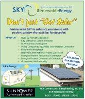 Logo for SKY Renewable Energy - Solar