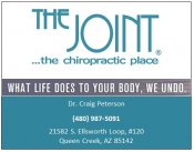 Logo for The Joint Chiropractic - Dr. Craig Peterson